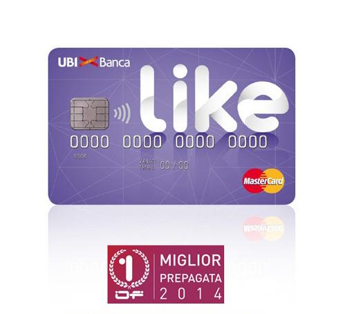 Carta prepagata Like - Ubi Banca Miglior