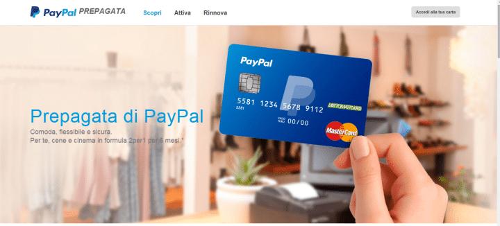 Carta Prepagata PayPal Sito