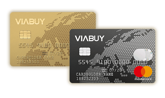 Carta prepagata ViaBuy black e gold